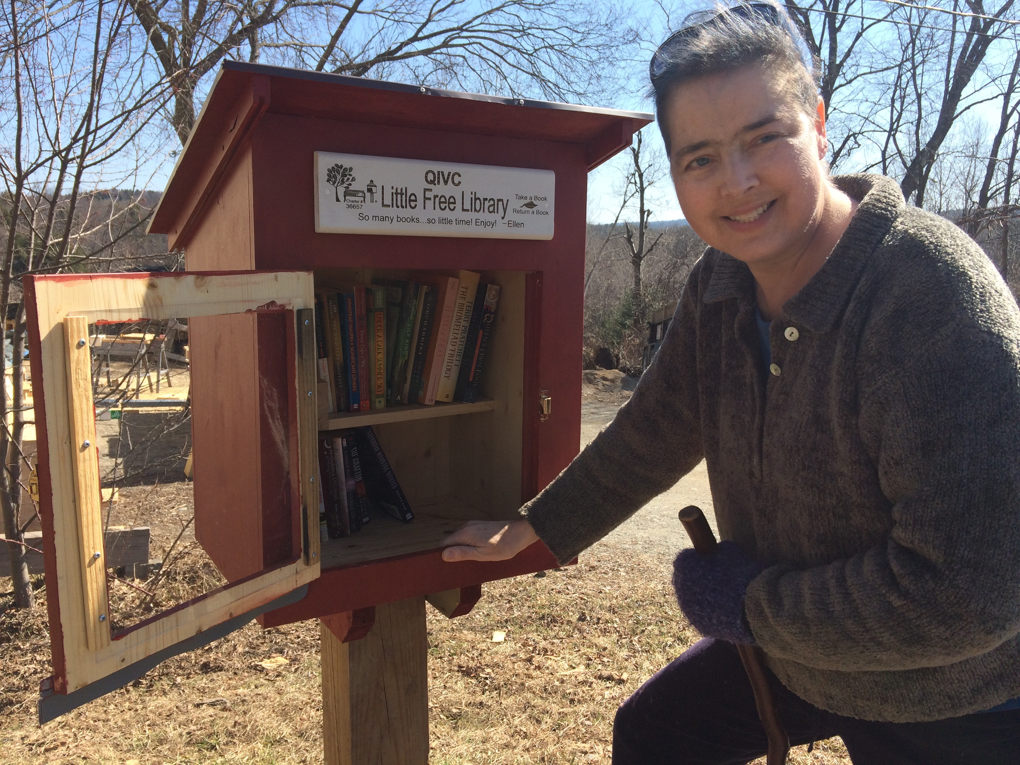 Little Free Library with signage!